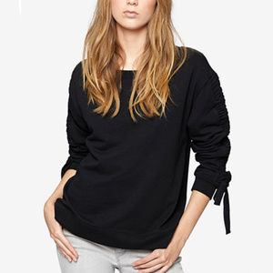 Sanctuary Ruched Cotton Sweatshirt - Size Small